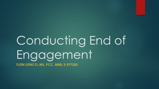 Conducting End of Engagement